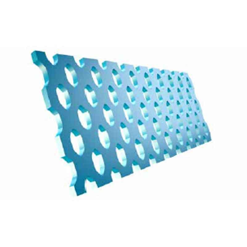 Perforated steel blades